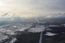 Зимние пейзажи с параплана