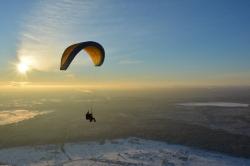 Зимние полеты в тандеме имеют свою красоту