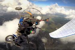 Воздушная акробатика на паратрайке