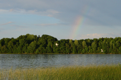 Радуга над озером Врево