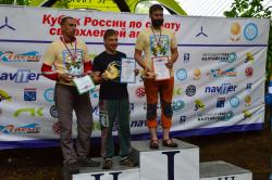 Награждение победителей - наш пилот, Антон Солынин на 1 месте в Спорт классе на КБН