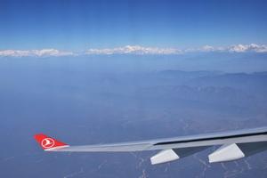 Уже на подлете к Катманду на горизонте встают восьмитысячники Гималаев