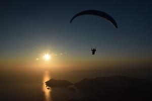Вечерний полет на закат в Олюденизе особенно красив!